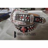 2022 Designer Belt Bb Simon Belts for Men Women Shiny diamond belt black red bb belts