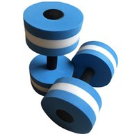 2 قطع المياه إيفا الحديد المائية التمارين الرياضية dumbbellsfitness أكوا بركة ممارسة رغوة العائمة الدمبل اليوغا اللياقة البدنية الدمبل