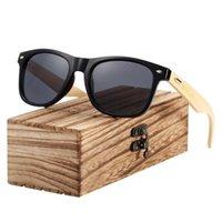 Gafas de sol rosadas de madera de bambú de madera gafas de sol de mujer espejo gafas hombre diseñador de marca