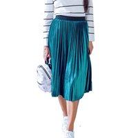 Damen Vintage Herbst Winter Frauen Samt Rock Hohe Taille Elegante sexy dünne schwarze Plissee Röcke Weibliche Maxi Röcke Womens 210329