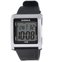 02Y2 Часы Xonix Мода Многофункциональный Большие Цифровые Светящиеся Водонепроницаемые Спорт для Пожилых Мужской Electronic BN