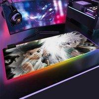 마우스 패드 손목 rests anime x 패드 RGB 80x30 게임 2mm 마우스 패드 대형 노트북 키보드 LED 라이트 테이블 매트 게임을위한.