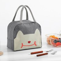 Dinnerware Sets High-capacity Waterproof Lunch Box Bag For Women Kids Men Cooler Tote Canvas Insulation Package Portable