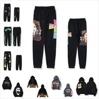Kanye Homens Calças High Street Pant Para Homens Reflexivo Sweatpants Casual Mens Hip Hop Camo Streetwear Alta Qualidade 0101
