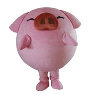 Festival Dress pink pig Sunglass Mascot Costume Halloween Christmas Fancy Party Dress Advertising Leaflets Clothings Carnival Unisex Adults Outfit