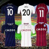 21 22 Aston Soccer Jerseys Villa Buendía Traore Barkley Traore Barkley Chemise de football 2021 2022 Watkins Wesley Ghazi M.Trezeguet McGinn Men + Kits Kits 888