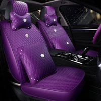 Female Special Car Seat Cover For Toyota Hyundai Kia BMW PU Leather Auto Universal Size Waterproof Automobile Covers purple