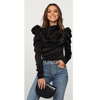 Women's Blouses & Shirts fashionable satin shirts, neck-laced and long sleeves, stylish, office blouses, women's 92ZZ