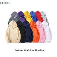 Sweats à capuche pour hommes Sweatshirts FGKKS Qualité Marque Hommes Sweat à capuche 2021 Automne Mâle HIP Streetwear Pullwover Mens Solid Couleur