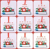 2021 New Arrival Christmas Decoration Ornaments Family of 1-9 Heads DIY Tree Pendant Accessories Cute Indoor Decor with Rope Resin Multi Styles Funny Gift