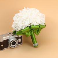 신부 결혼식 꽃다발 폼 인공 수제 꽃 선물 인공 꽃 손 꽃다발 장미 신부 결혼식 용품 2129 v2