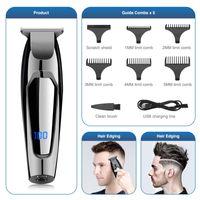 Cabelo Trimmer Profissional Cabelos Clippers para homens Kit de cabelo sem fio Barba Digital Exibição Recepargable Shaver Adequado Casa Salon Barber Cutre Clipper