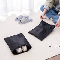 Storage Bags Non Woven Reusable Shoe Cover With Drawstring Case Breathable Dust Proof Sundries Package Home Tool FWB6654