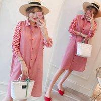 Maternity Dresses Loose Blouses Clothes Spring Dress For Pregnant Women Cotton Pregnancy Autumn Stripe Clothing