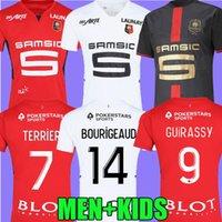Rennes 21 22 Stade Rennais FC Soccer Trackys Doku Terrier Bourigeaud Guirassy Camavinga 120th Aguerd Niang 2021 2022 Mailoots de oep Men Kids Kit Футбольные рубашки