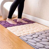 Bathroom Mat Rugs Pebble Memory Foam Bath Carpet Floor Mats Rug Entrance Door Salle De Bain
