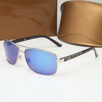 Klassische runde Sonnenbrille Marke Design UV400 Eyewear Metall Goldrahmen Sonnenbrille Männer Frauen Spiegel Polaroid Glaslinse