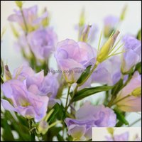 Декоративные праздничные партии поставляет GardenceRation цветы венки качества поддельных искусственных платикодонов шелковый цветок DIY домашний свадьба украд