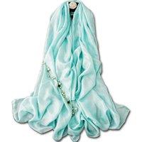 Mola, algodão de verão e lenço de linho feminino torre branca sol sólida sunscreen xaile toalha de praia Veios de banho de armazenamento