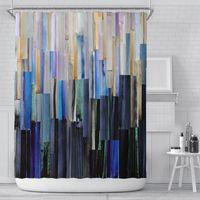 Shower Curtains Summer Retro Curtain Oil Painting Girl Bathroom Designer Living Room Cortinas Para Salon Supplies