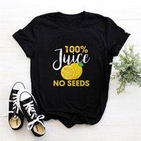 100% spremuta nessun seme maglietta da donna con scollo rotondo manica corta manica corta tee tshirt carino frutta grafica femme t-shirt 210423
