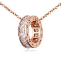 Личность круга женское ожерелье серьги Zircon дизайнер человек ювелирные наборы женские / мужские повседневные украшения 671 Q2