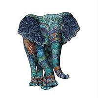 Banlv Mammoth слон головоломки животных головоломки нерегулярной формы головоломки деревянные монтажные игрушки для взрослых и детей подарок подарок подарок