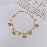 Ins minority design pearl national style gold plated pendant eight star compass Bracelet female lover party personality charm