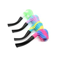 Silicone Spoon Hand Pipe Printing Silicon Mini Water Pipes Dabble for Dry Herb Printings ZYY870