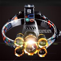 Five-core Intelligent Sensor Headlamp Glare Super Bright Rechargeable Head-mounted Induction 4.2V 10W 300-500M Headlamps