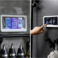 Home Wall Wasserdichte Handy Box Selbstklebende Halter Touchscreen Badezimmer Telefon Shell Dusche Dichtung Aufbewahrungsbox