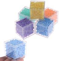 Dhl سريع 8 سنتيمتر حجم كبير 3d المتاهة ماجيك مكعب ستة جوانب لغز سرعة مكعب المتداول الكرة لعبة cubos شفافة للأطفال التعليمية 3 سنوات من العمر للجنسين cy30