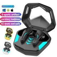 Gaming Headsets 65ms Low Latency TWS Bluetooth 5.1 Headphone Sports Waterproof Wireless Earphone Noise Cancelling Earbuds Gamer