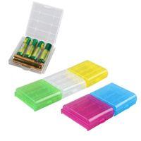 Caixa de armazenamento de plástico transparente da bateria AA / AAA para 14500 10440 Baterias Organizer Recipiente KDJK2105