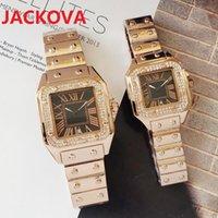 Fashion luxury quartz movement lady dateday diamonds ring watches woman man high quality square roman dial designer wristwatches