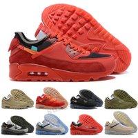Max 90 Shoes de correr hombres Mujeres Negro Blanco Infrarrojo Recraimiento Royal Denham Entrenadores al aire libre Zapatillas de deporte Diseñadores clásicos