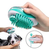 Cat Bath Brush 2-in-1 SPA Massage Comb Soft Silicone Shower Hair Grooming Cmob Dog Cleaning Tool Pet Supplies
