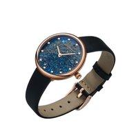 Longbai Biżuteria Zegarek Klejnot Mały Diament Dream Color 2021 Kwarc Kobiet Zegarki Goddess Series 6.7mm Ultra Cienkie Wodoodporne Zegarek Gwiazdy