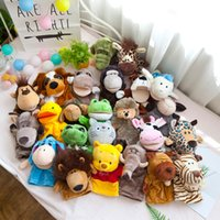 Marionnettes animalière jouets gants de poupée en peluche mobile bouche poupée une performance de maternelle agréable