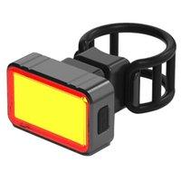 Fahrradbeleuchtung Fahrradbremse Smart Rücklicht LED COB Sensing Rücklicht Fahrradfahren für Zubehör USB Wiederaufladbar