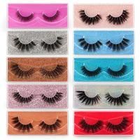 Makeup 3D Mink Colorful Lashes Natural False Eyelashes Mix 10 Pairs of Double Packs Make Up Wholesale Eyelashe