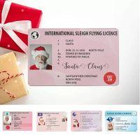 미국 크리스마스 선물 인사말 카드 86 * 54mm 산타 클로스 재미있는 운전 면허증 크리스마스 장식
