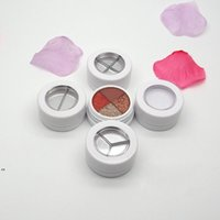 New26.6mm Empty White Cosmetic Eyeshadow Powder Case Box with Screw Cap, Beauty Makeup Blusher Sub Container Lipstick Compact DWD8636