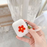 Cute Flower Case for Airpods 1 2 Soft Silicone Flexible Cases Cover Cute Shockproof Earphone protector bulk 97229