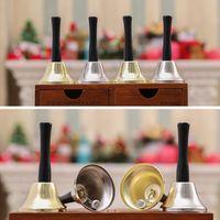 Ouro prata natal mão sino natal ferramenta de festa vestido como Papai Noel Natal Bell Chattle Ano Novo decoração 120 pcs hwe8410