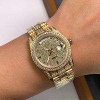Mens Watch Automatic Mechanical Watches 40mm Stainless Steel Case Full Diamond Original Buckle Montre de Luxe High Quality