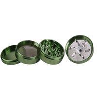 4 Partie 63mm Alliage d'aluminium Main Grinders Herb Spice Pollen Broyeur Cruseur Manivelle Fumer Cracker 63mm 348 V2
