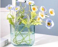 2021 Çanta Vazo Süsleme Oturma Odası Çiçek Düzenleme Cam Şeffaf Net Kırmızı El Sepeti Ev Dekoru 004