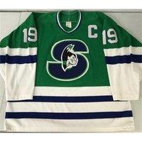 123001Rare Jersey Hóquei Homens Juventude Mulheres Vintage Personalizar AHL Springfield 1990-93 Picard Tamanho S-5XL Personalizado Qualquer nome ou número