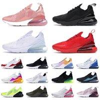Haute Qualité 270 chaussures de course sport réagissent aux hommes femmes triples noires tous les gradient d'été blanc blanc coups de poing bleue 36 ~ 45
